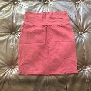 Burgundy mini skirt